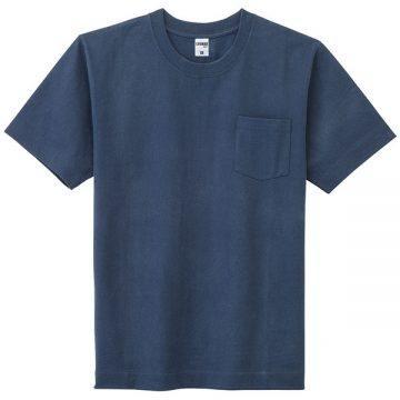 10.2ozスーパーヘビーウェイトTシャツポケット付き8.ネイビー