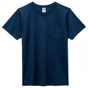 ユーロポケット付きTシャツ8p.ネイビー