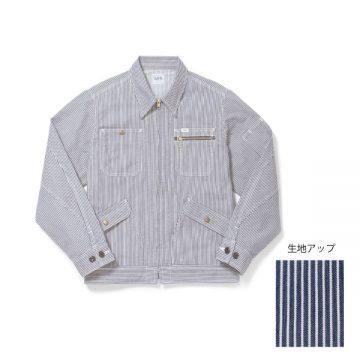 ジップアップジャケット18.ホワイト×ブルー