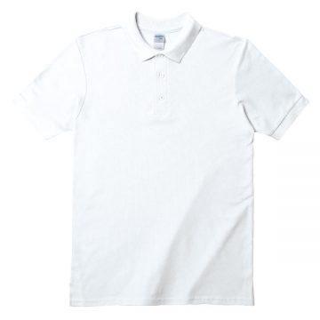 アダルトダブルピケポロシャツ30N.ホワイト