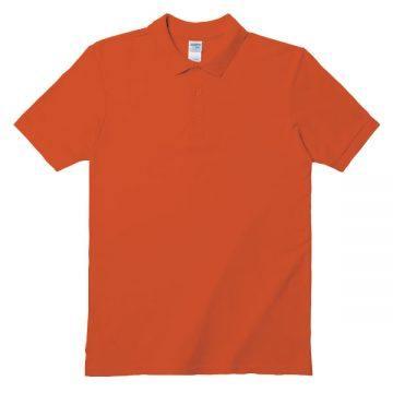 アダルトダブルピケポロシャツ37C.オレンジ