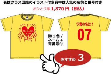 クラスTシャツ2,000円以内