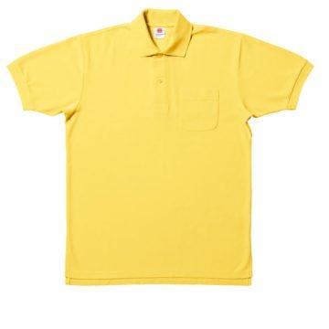 【SALE】ポケット付鹿の子ポロシャツ20.イエロー