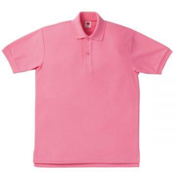 【SALE】鹿の子ポロシャツ39.コーラルピンク
