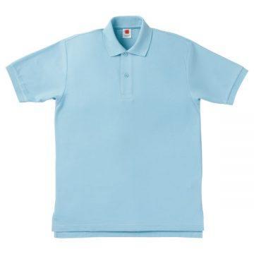 【SALE】鹿の子ポロシャツ6.サックス