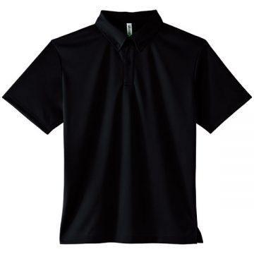 4.4オンスドライボタンダウンポロシャツ(ポケット無し)005.ブラック