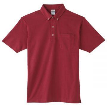 4.9オンスボタンダウンポロシャツ(ポケット付)112.バーガンディ