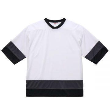 4.1ozドライホッケーTシャツ9868.ホワイト/ガンメタル/ブラック