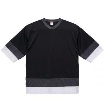 4.1ozドライホッケーTシャツ9869.ブラック/ガンメタル/ホワイト