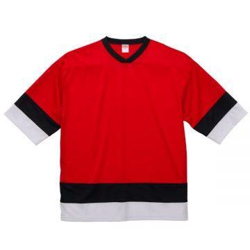 4.1ozドライホッケーTシャツ9870.レッド/ブラック/ホワイト