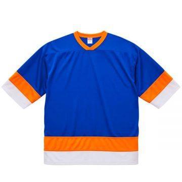 4.1ozドライホッケーTシャツ9871.コバルトブルー/オレンジ/ホワイト