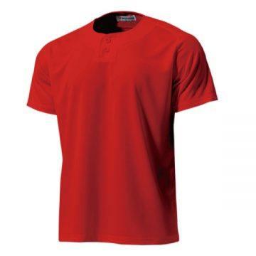 セミオープンベースボールシャツ11.レッド