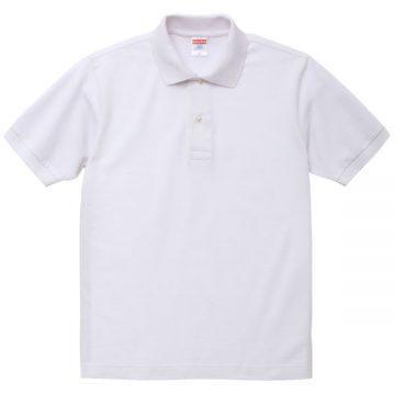 6.0オンスヘビーウェイトコットンポロシャツ001.ホワイト