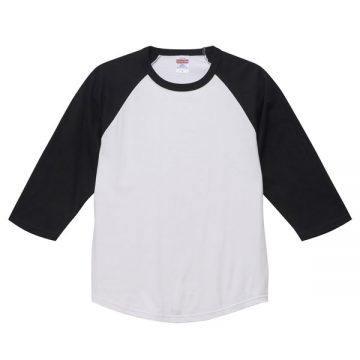 ラグラン3/4スリーブTシャツ1002.ホワイト×ブラック