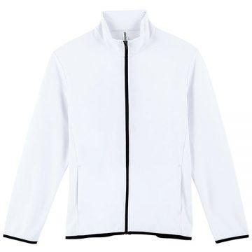 ドライスウェットジップジャケット001.ホワイト
