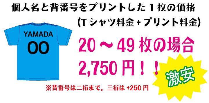 20~49枚まで2,750円!