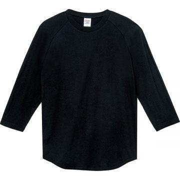 5.6オンスヘビーウエイトベースボールTシャツ005.ブラック