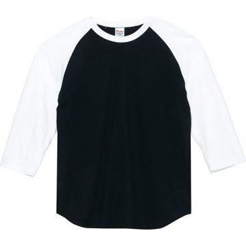 5.6オンスヘビーウエイトベースボールTシャツ066.ブラック×ホワイト