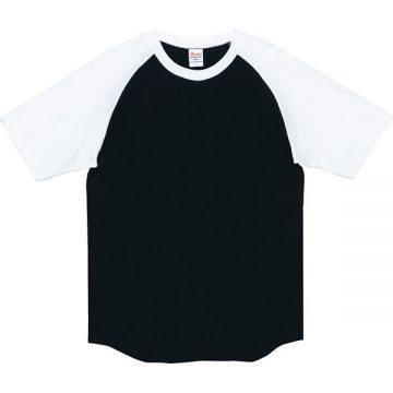 5.6オンスヘビーウエイトラグランTシャツ066.ブラック×ホワイト