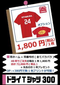 ドライTシャツ300