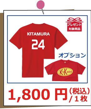 ドライTシャツ300 1,800円
