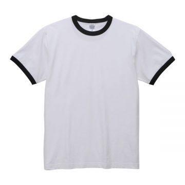 5.6オンスリンガーTシャツ1002.ホワイト×ブラック
