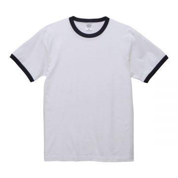 5.6オンスリンガーTシャツ1086.ホワイト×ネイビー
