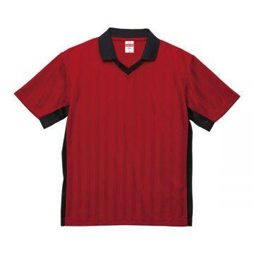 4.1オンスドライクラシックサッカーシャツ5602.レッド×ブラック