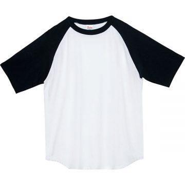 5.6オンスヘビーウエイトラグランTシャツ705.ホワイト×ブラック