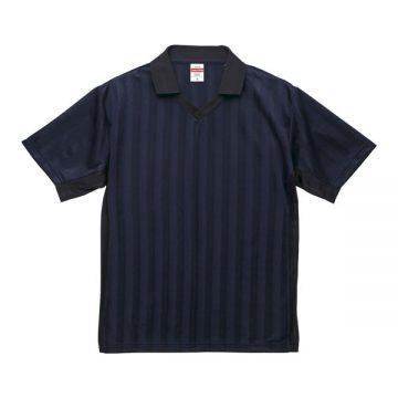4.1オンスドライクラシックサッカーシャツ7202.ネイビー×ブラック