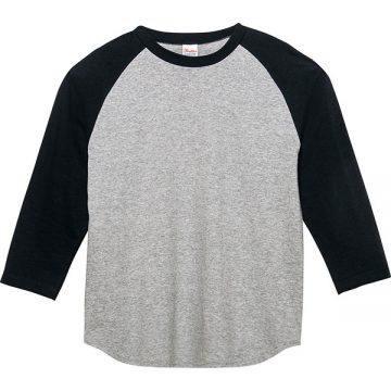5.6オンスヘビーウエイトベースボールTシャツ805.杢グレー×ブラック