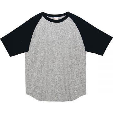 5.6オンスヘビーウエイトラグランTシャツ805.杢グレー×ブラック