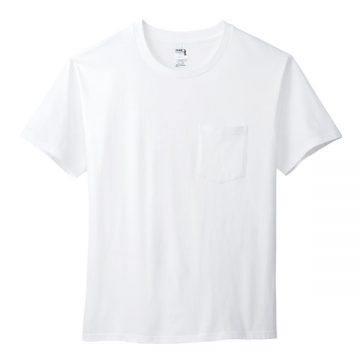 6.1オンスハンマーポケットTシャツ000C.ホワイト