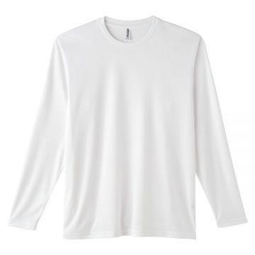 インターロックドライ長袖Tシャツ001.ホワイト