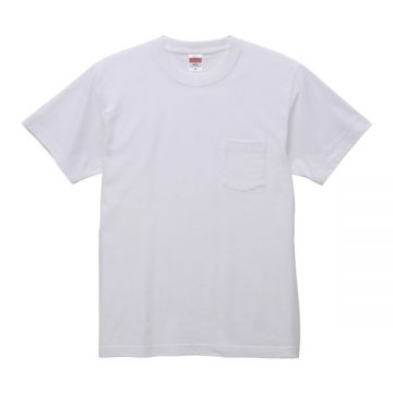 ハイクオリティTシャツ(ポケット付)001.ホワイト
