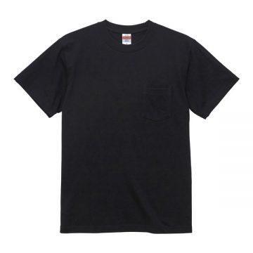 ハイクオリティTシャツ(ポケット付)002.ブラック