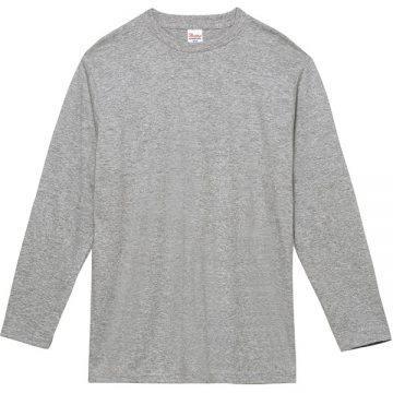ヘビーウェイト長袖Tシャツ003.杢グレー