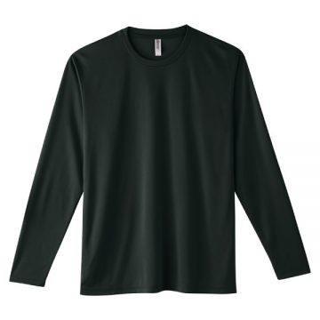インターロックドライ長袖Tシャツ005.ブラック