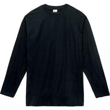 ヘビーウェイト長袖Tシャツ005.ブラック
