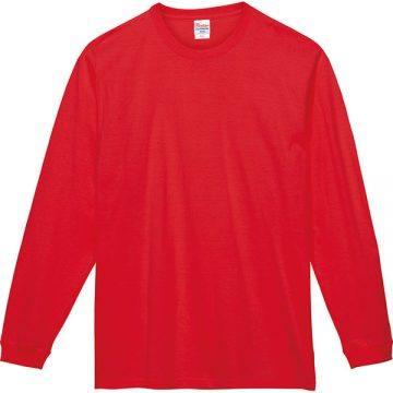 スーパーヘビー長袖Tシャツ010.レッド