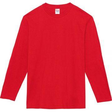 ヘビーウェイト長袖Tシャツ010.レッド