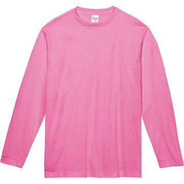ヘビーウェイト長袖Tシャツ011.ピンク
