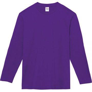 ヘビーウェイト長袖Tシャツ014.パープル