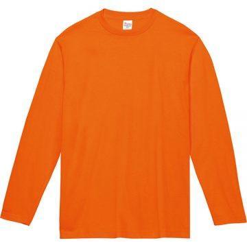 ヘビーウェイト長袖Tシャツ015.オレンジ