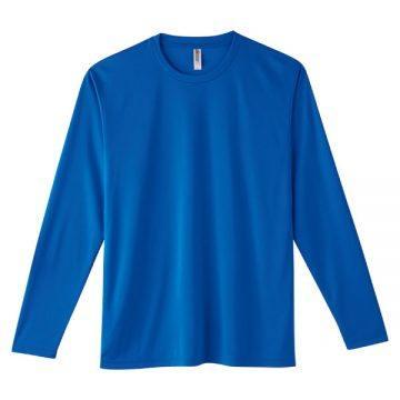 インターロックドライ長袖Tシャツ032.ロイヤル