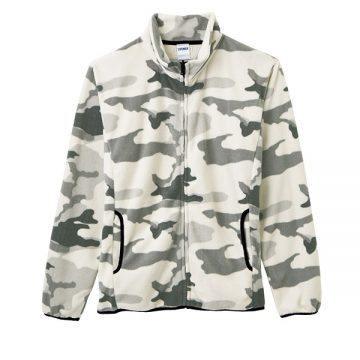 フリースジャケット1115.ホワイトウッドランドカモ