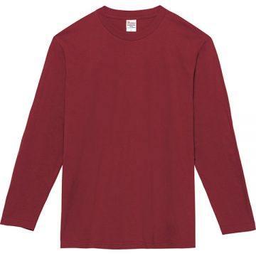 ヘビーウェイト長袖Tシャツ112.バーガンディ