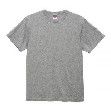 6.0オンス オープンエンド バインダーネックTシャツ714.ヘザーグレー