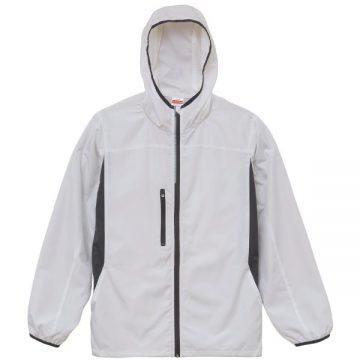 マイクロリップストップジップジャケット(裏地付)001.ホワイト