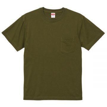 ハイクオリティTシャツ(ポケット付)035.シティグリーン